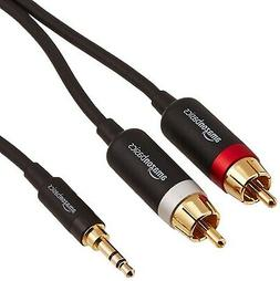 AmazonBasics 3.5mm to 2-Male RCA Adapter Audio Stereo Cable
