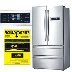 "Smad 36"" wide French Door Refrigerator  with Ice maker 21 Cu"