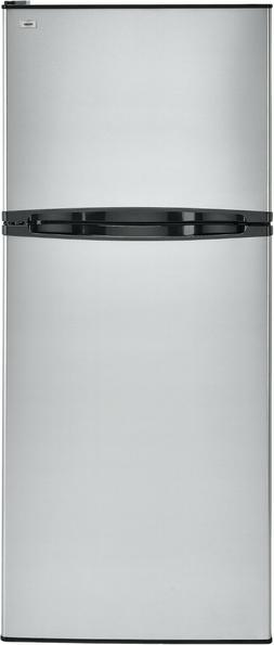 HAIER 9.8 Cu Ft Top Mount Refrigerator Stainless Steel Or Wh