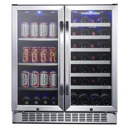 EdgeStar CWB2886FD 30-Inch Built-In Wine and Beverage Cooler