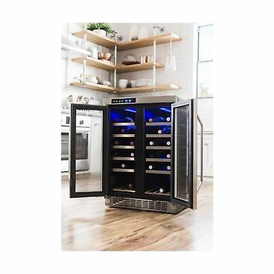 EdgeStar 24 Inch Wide 36 Bottle Wine Dual Cooling Cold Chill
