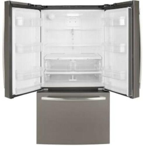 """GE 27 Cu Ft GNE27JMMES 36"""" French Door Refrigerator With Ice Maker"""