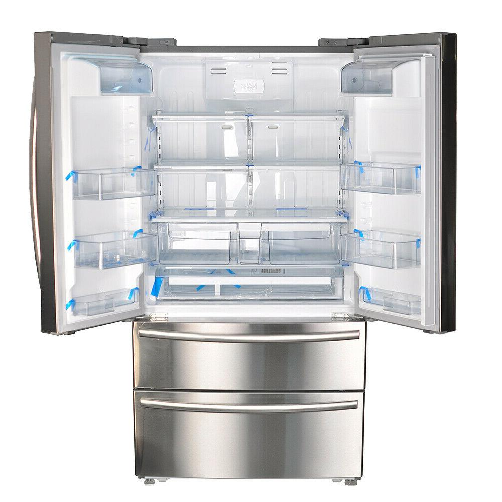 "Smeta French Counter Depth 36"" Stainless Steel Ice"
