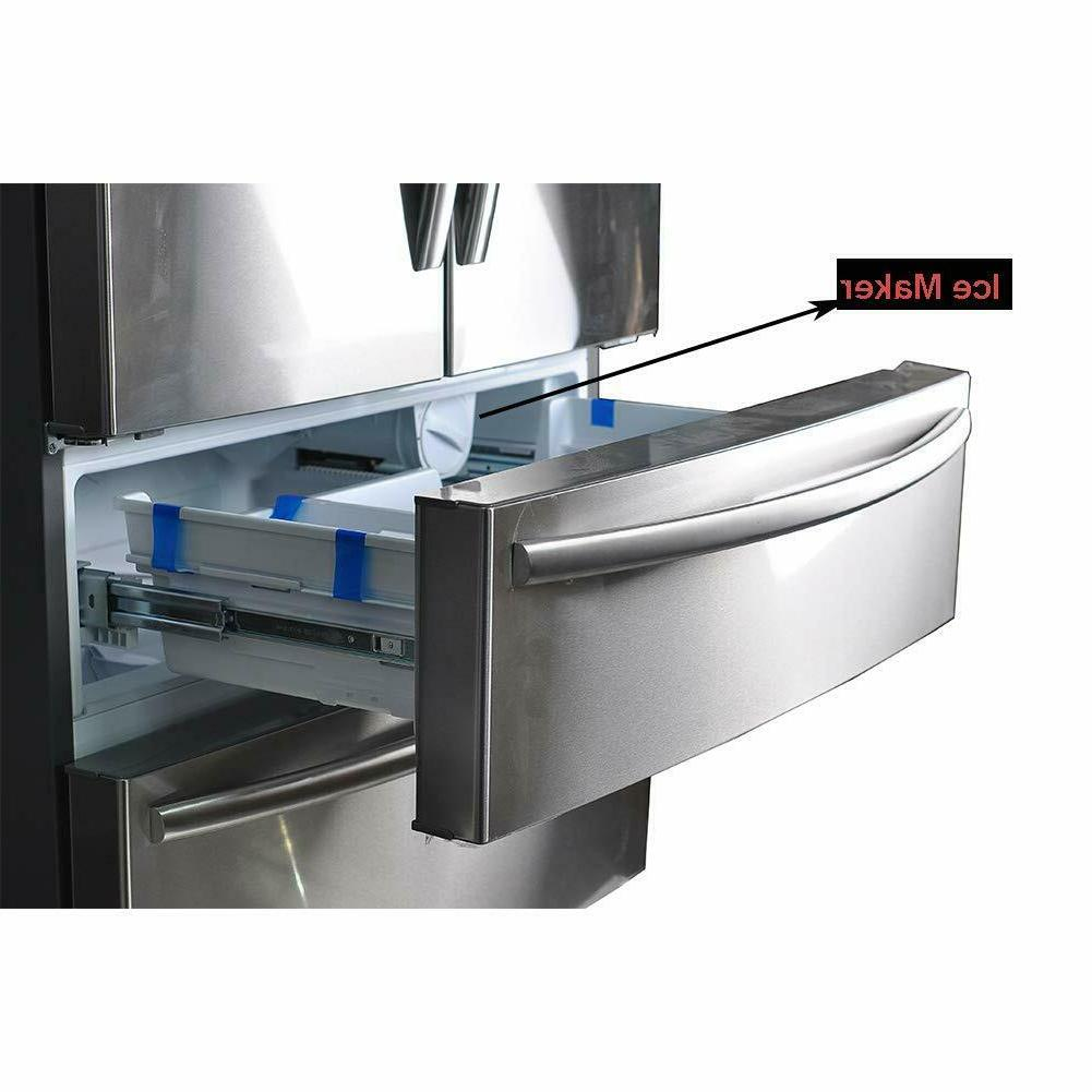 "Smeta Counter Depth 36"" Stainless Steel With Ice"