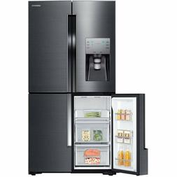 "SAMSUNG RF23J9011SG 36"" Black Stainless Steel French Door Re"
