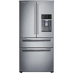 """SAMSUNG Stainless Steel French Door 33"""" Wide Refrigerator Fo"""
