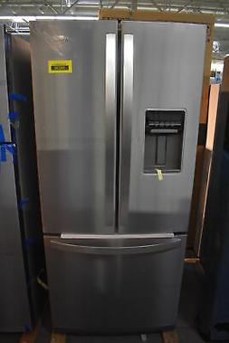 """Whirlpool WRF560SEHZ 30"""" Stainless French Door Refrigerator"""